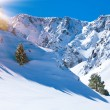 Mountain valley and snow — Stock Photo