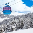 Closeup of ski lift cable car — Stock Photo