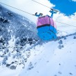 Ski lift cable car — Stock Photo