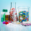 Many types of drugs and pills and other medicine — Stock Photo