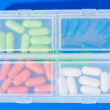 Many different color drugs — Stock Photo