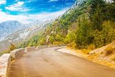 Mountain road near Kotor town — Stock Photo