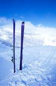 Skiing in mountain — Stock Photo