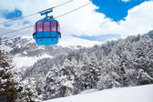 Closeup of ski lift cable car — Stock Photo