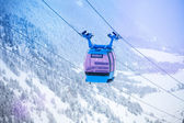 Cable car for ski lifting — Stock Photo