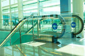 Escalator in airport — Stock Photo