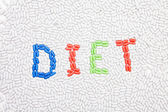 Diet text made of drugs — Stock Photo
