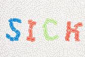 錠剤の作られた病気のテキスト — ストック写真
