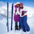Ski buddies — Stock Photo