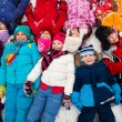 Many kids in snow — Stock Photo #28474895