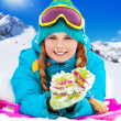 Winter is fun for girls — Stock Photo