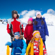Kids outside on winter day — Stock Photo