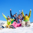 Group of four snowboarders — Stock Photo #28478493