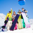 Snowboard mates on ski resort — 图库照片