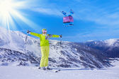 Best ski vacation ever — Stock Photo