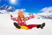 Winter fun vacation — Stock Photo