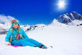 Sitting on sled — Stock Photo