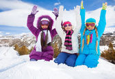 Hooray, winter fun — Stock Photo
