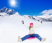 Sliding is so much fun — Stock Photo