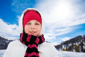 Portrait of girl in winter — Stock Photo