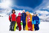 Kids outside in winter — Stock Photo