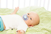 Boy with pacifier — Stock Photo