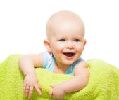 Laughing baby portrait — Stock Photo