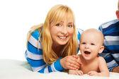 Happy boy, happy mother — Stock Photo