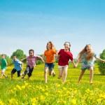 Group of running kids — Stock Photo #28480759