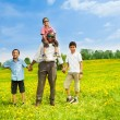 Happy father with his boys — Stock Photo