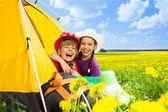 Camping is fun — Stock Photo