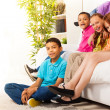 Portrait of kids at home — Stock Photo