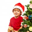 Stockfoto: Opening Christmas presents
