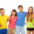 Four preteens kids — Stock Photo