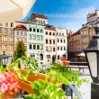 Calm old town square in Warsaw — Stock Photo #32010545
