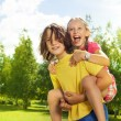 Piggyback ride — Stock Photo