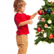 Boy and Christmas — Stockfoto