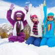Stock Photo: Hooray, winter fun