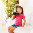 Stock Photo: Kid filming home video
