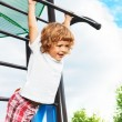 Exercise horizontal bar — Stock Photo