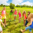 Girls dancing in the park — Stock Photo #32011189