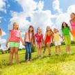 Many cute little girls — Stock Photo #32011763