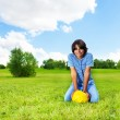 Boy with soccer ball — Stock Photo #32011847