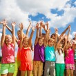 Large group of happy kids — Stock Photo #32011891