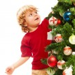 Decorating Christmas — Stockfoto