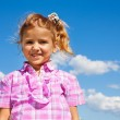 Portrait of little girl in pink — Stock Photo #32011985