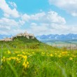 Spis castle with mountains on background — Photo