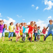 Many kids running — Stock Photo #32012741
