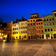 Marketplace square in Warsaw — Stock Photo