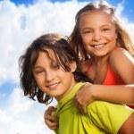 Couple of kids portrait — Stock Photo